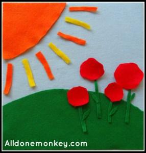 Felt Board - The Ridvan Garden - Alldonemonkey.com