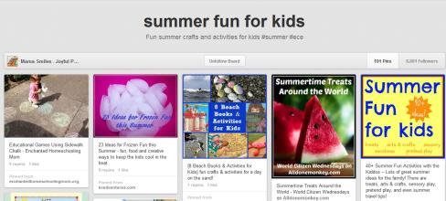 Summer Fun Pinterest Boards - Mama Smiles on Alldonemonkey.com