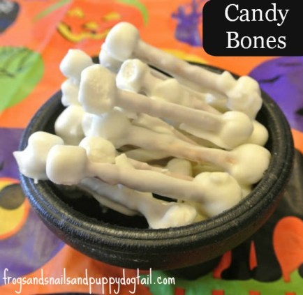 Candy Bones - FSPDT - Skeleton Crafts and Activities on Alldonemonkey.com
