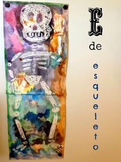 http://www.fortheloveofspanish.com/2013/10/e-de-esqueleto-skeleton-crafts.html