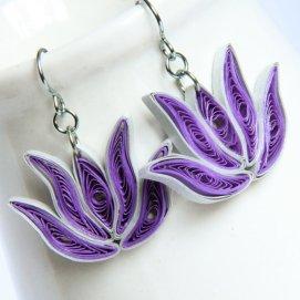 Honey's Quilling - Lotus Earrings
