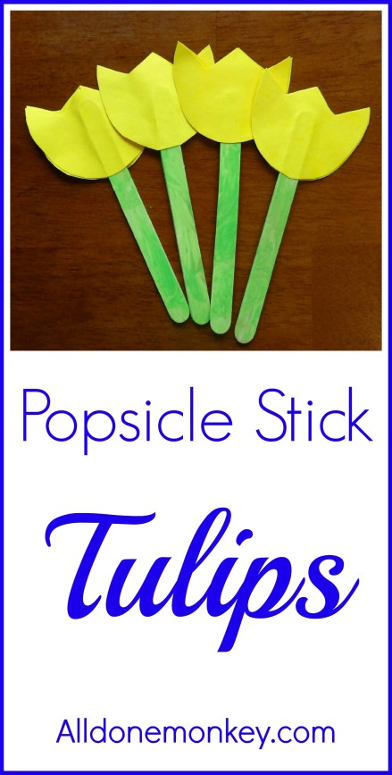 Spring Flower Craft: Popsicle Stick Tulips {Naw Ruz} - Alldonemonkey.com
