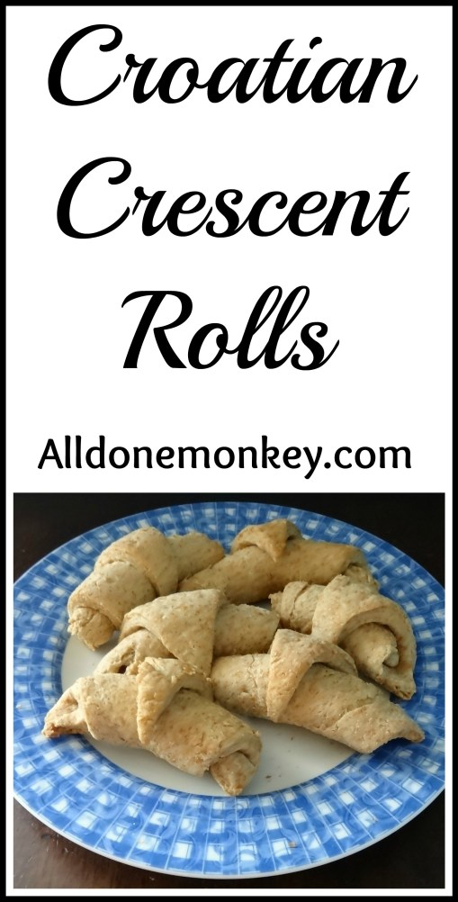 Croatian Crescent Rolls {Around the World in 12 Disshes} - Alldonemonkey.com