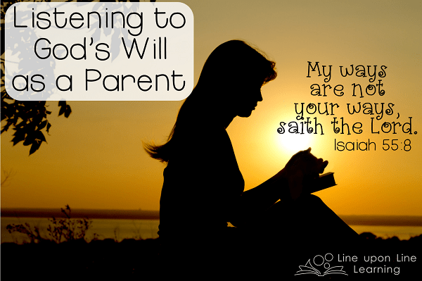 Listening to God's Will as a Parent by Rebecca Reid {Parenting and Faith} | Alldonemonkey.com