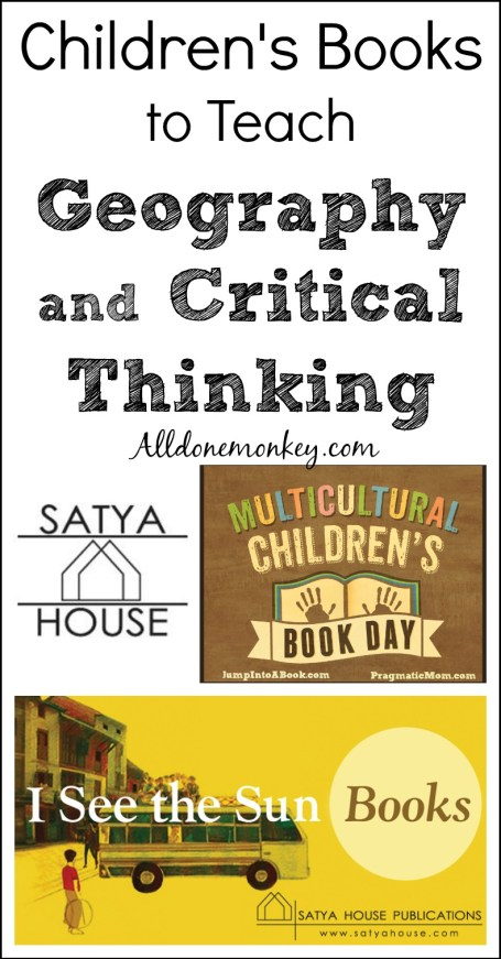 Children's Books to Teach Geography and Critical Thinking {Multicultural Children's Book Day} | Alldonemonkey.com