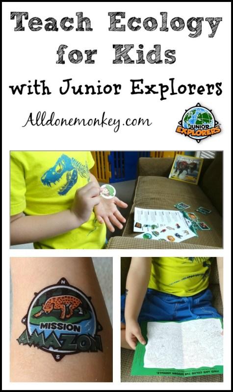 Teach Ecology for Kids with Junior Explorers | Alldonemonkey.com