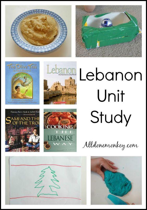 Lebanon Unit Study | Alldonemonkey.com