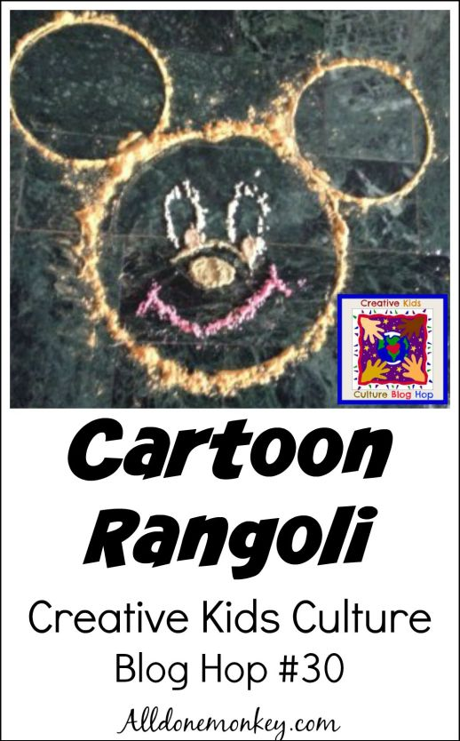 Creative Kids Culture Blog Hop #30: Cartoon Rangoli | Alldonemonkey.com