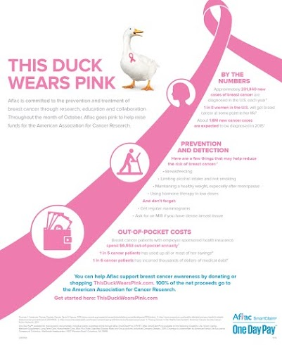 Aflac Breast Awareness Campaign Infographic