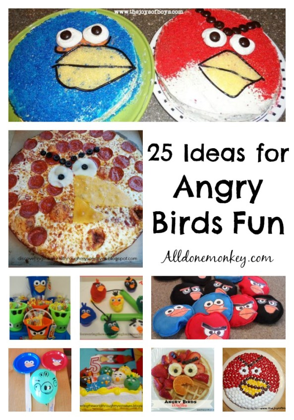 Angry Birds: 25 Crafts, Activities, Food, and More!   Alldonemonkey.com