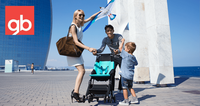 The gb Pockit stroller is a great choice for family travel
