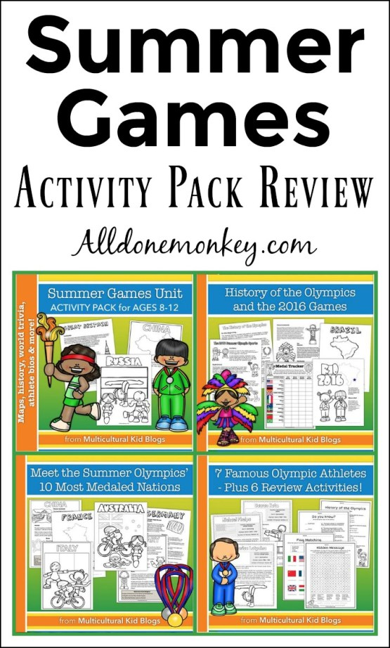 Summer Games Activity Pack Review | Alldonemonkey.com