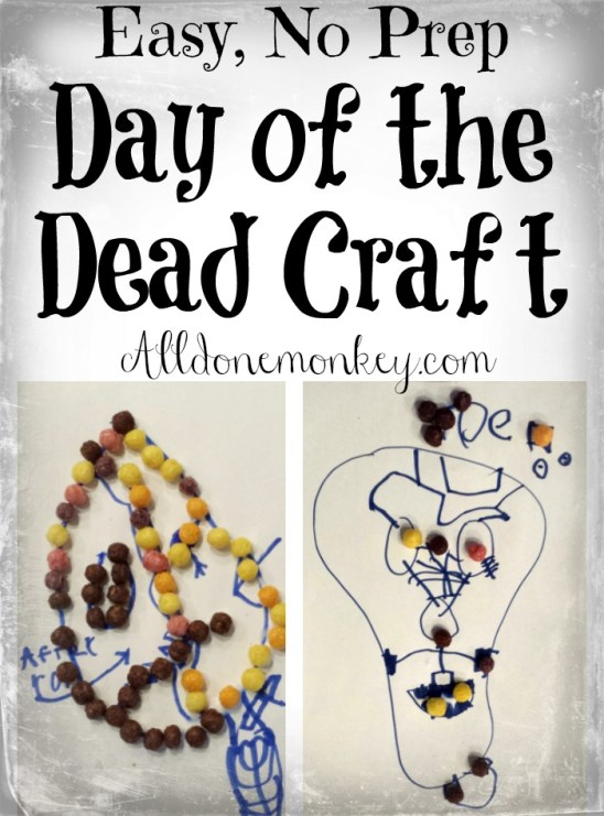 Easy, No Prep Day of the Dead Craft | Alldonemonkey.com