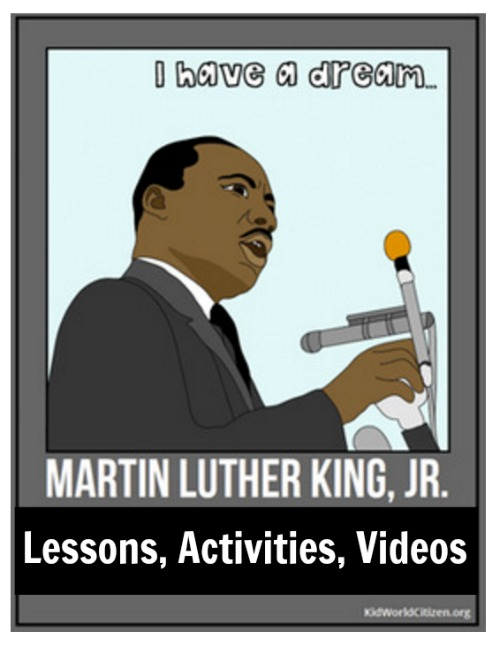 Martin Luther King Lessons, Activities, Videos Alldonemonkey.com