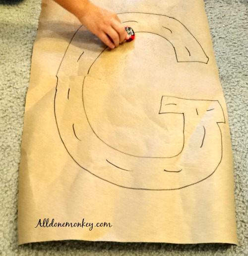Toddler Letter Craft and Activity: G Is for Go | Alldonemonkey.com