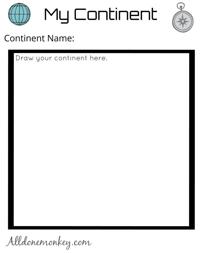 Geography Activity for Kids: Design Your Own Continent   Alldonemonkey.com