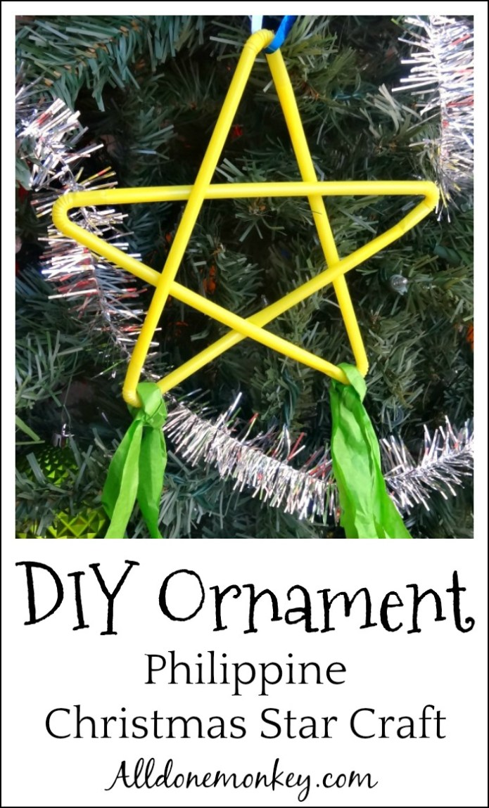 DIY Ornament: Philippine Christmas Star Craft | Alldonemonkey.com