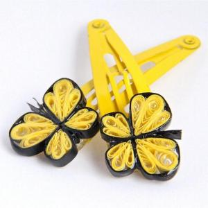 Yellow Butterfly Clips