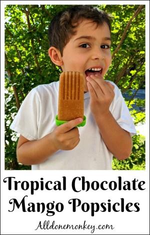 Tropical Chocolate Mango Popsicles