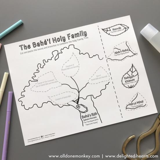Baha'i History: Bahiyyih Khanum - Holy Frmily Tree | All Done Monkey & Delighted Hearts
