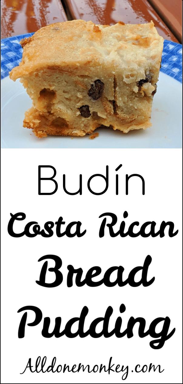 Costa Rican Bread Pudding: Budin | Alldonemonkey.com