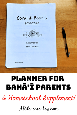 On Sale Now! Planner for Baha'i Parents