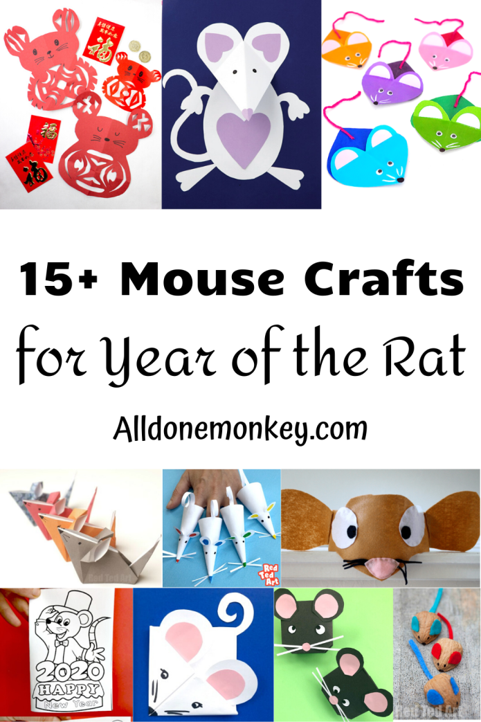 Year of the Rat Crafts: Chinese New Year | Alldonemonkey.com