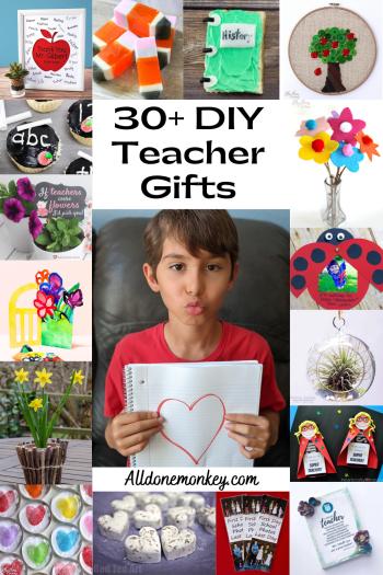DIY Teacher Gifts: 30+ Crafts, Recipes, and Printables | Alldonemonkey.com