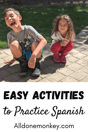 Practice Spanish with These Easy Activities: Bilingual Kids | Alldonemonkey.com