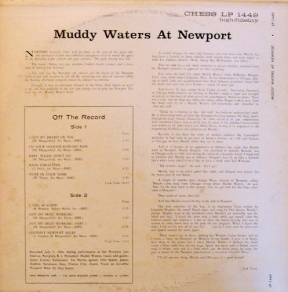 muddy waters at newport 1960 back