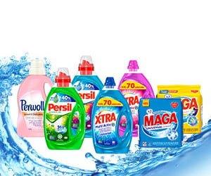 Waschmittel-Vorrat gewinnen
