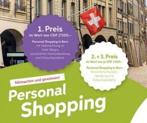 Shopping-Beratung, Übernachtung und Lebensmittelkörbe gewinnen