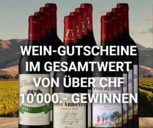 Wein-Gutscheine gewinnen