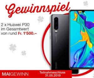 Bargeld und Huawei P30 Smartphone gewinnen