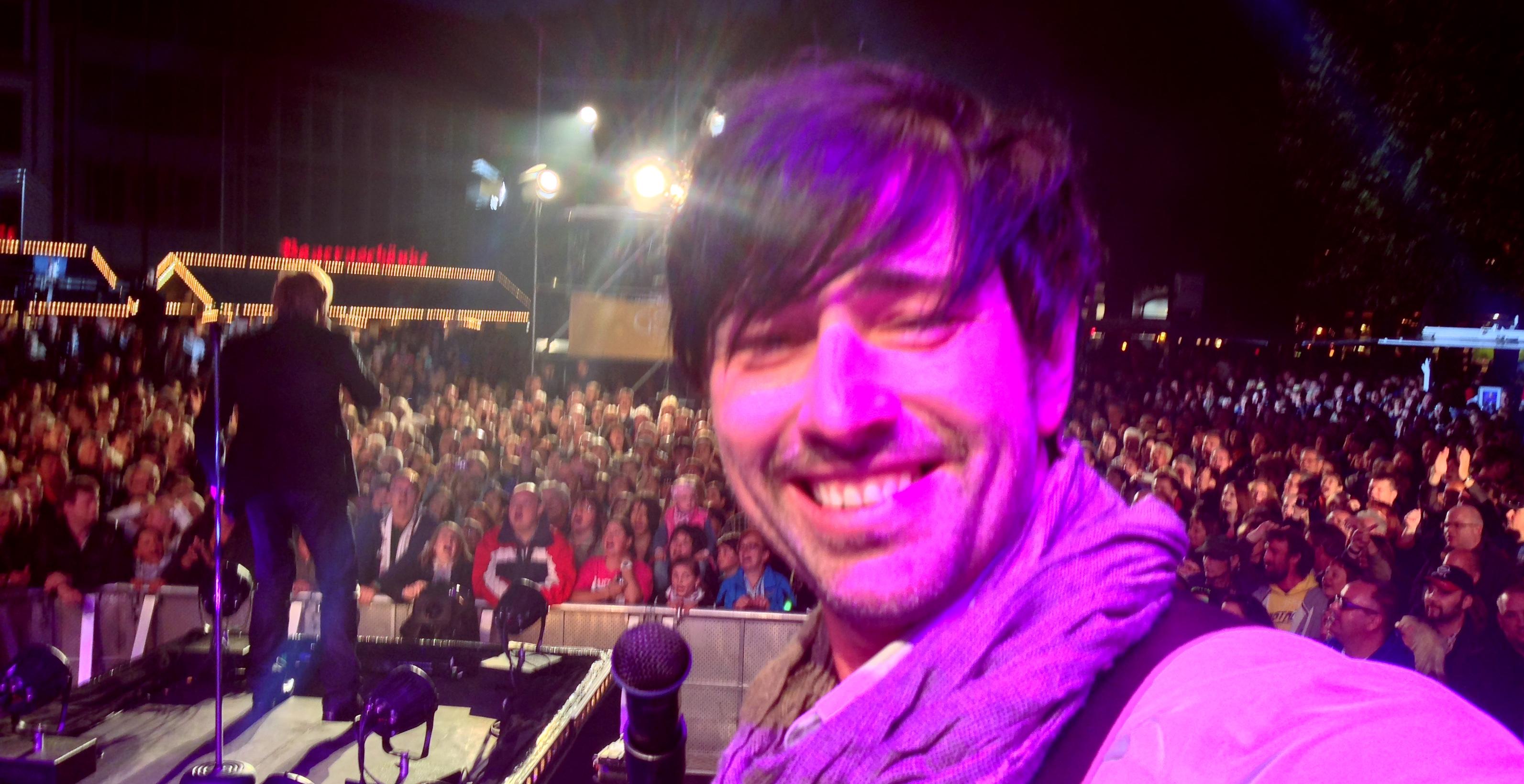 auf der Bühne mit Nik P für SAT1 GOLD in Lüneburg