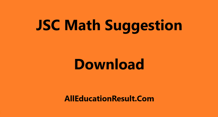 JSC Math Suggestion 2019