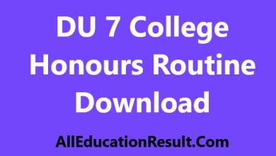 DU 7 College Honours Routine 2018