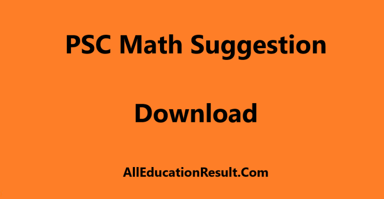 PSC Math Suggestion 2019