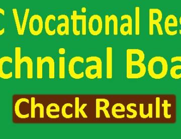 HSC Vocational Result 2019 Technical Board Marksheet -