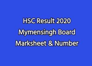 HSC Result 2020 Mymensingh Board Marksheet