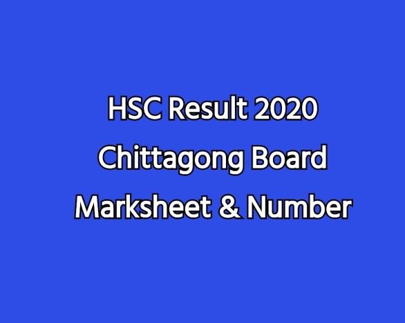 HSC Result 2020 Chittagong Board