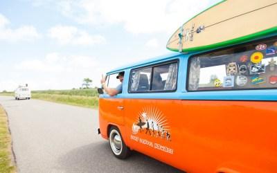 De Volkswagen hippie bus