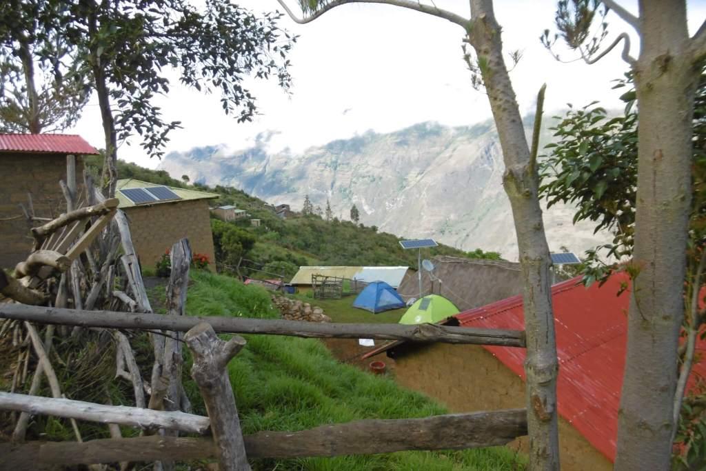 De camping op weg naar Choquequirao