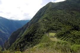 De Inca stad Choquequirao in Peru