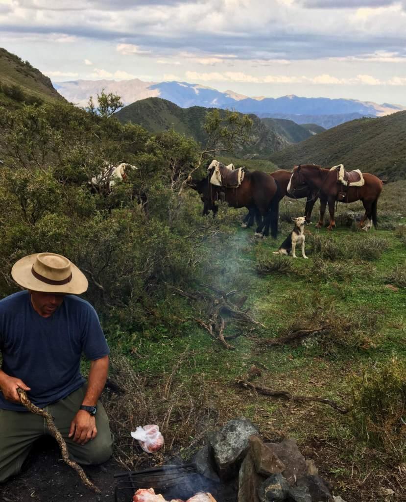 Paardrijden in Mendoza in Argentinië