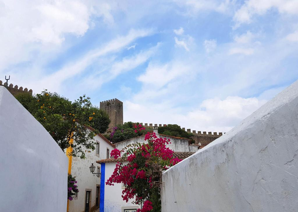 Het Portugese dorp Obidos vlakbij Lissabon