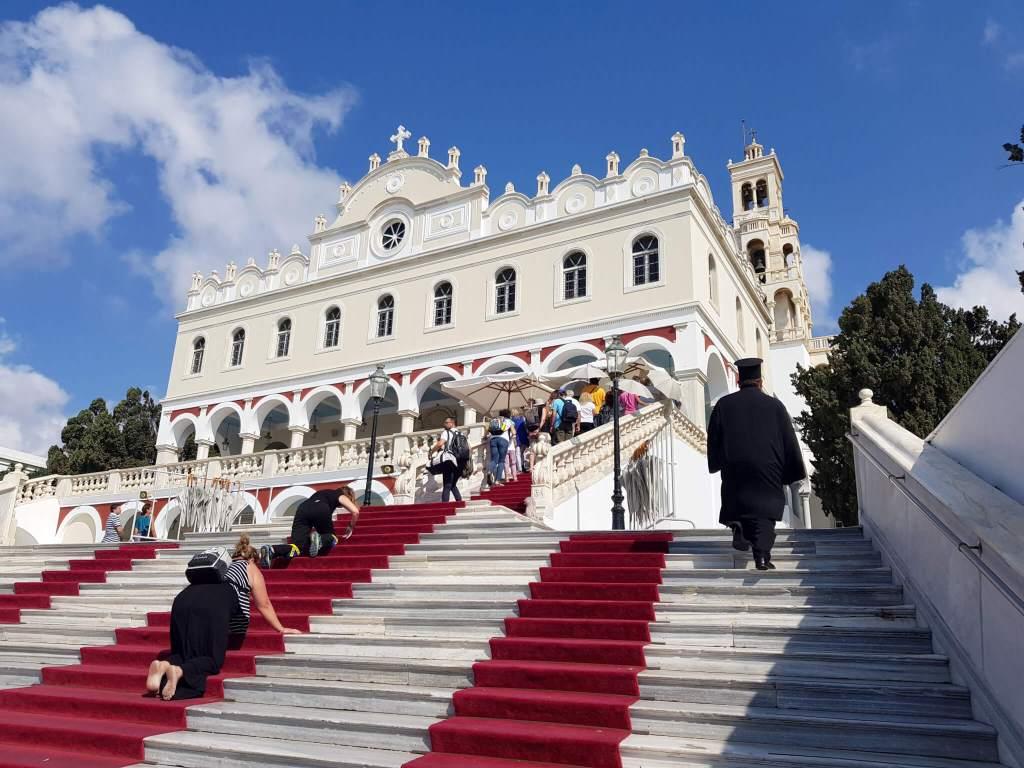 De beroemde Panagia Evangelistria Kerk op Tinos