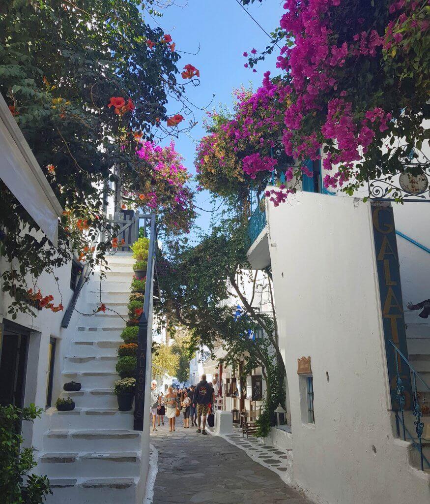 De oude stad van Mykonos is een plaatje