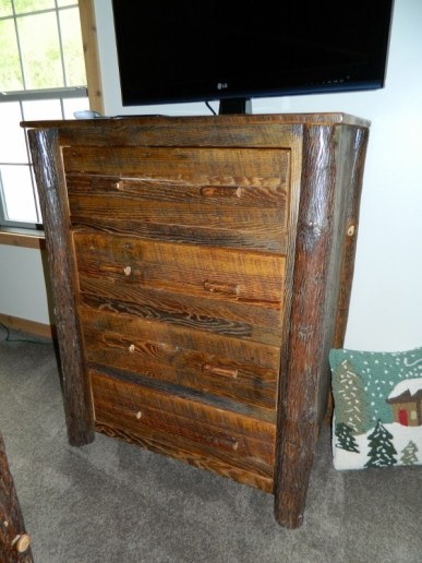 Barnwood Hickory Leg Chest of Drawers