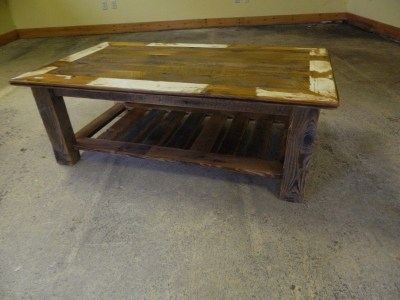 Large Coffee table with Shelf